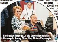 ?? ?? Sind guter Dinge (v.l.): die Darsteller Nataliia Ulasevych, Young Chan Cho, Alcäus Papanagis.