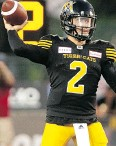 ?? PETER POWER / THE CANADIAN PRESS ?? Johnny Manziel in his CFL debut Friday night.