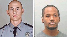 ?? KENTUCKY STATE POLICE ?? Joseph Thomas Johnson-Shanks, right, the suspect in the killing of state Trooper Joseph Cameron Ponder, has died.