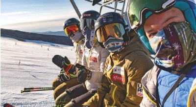 ??  ?? It has been an unconventional training year for the U.S. Ski Team, but that didn't stop the athletes from logging the hours needed to prepare for the 2020-'21 racing circuit.