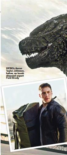 ??  ?? hero: Aaron Taylor-Johnson, below, as bomb disposal expert Ford Brody