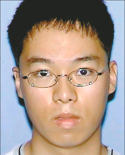 ?? REUTERS/ VIRGINIA STATE POLICE ?? Cho Seung- Hui, above, a South Korean student at Virginia Tech, was named as the gunman who killed 32 people at the U. S. university on Monday. According to CNN, a mailman who delivered to Mr. Cho's home said residents at the address were ' always...