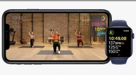 ??  ?? Data collected by the Apple Watch is displayed as you work out.