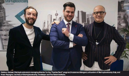 """??  ?? Stefano Galassi, Startupbootcamp's managing director for the """"FashionTech"""" program; Nazzareno Mengoni, cofounder of Startupbootcamp Italy, and Alceo Rapagna, ceo Italy of Startupbootcamp, Innoleaps and The Talent Institute."""