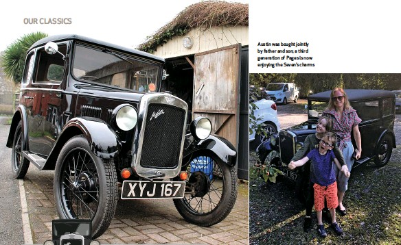 ??  ?? Austin was bought jointly by father and son; a third generation of Pages is now enjoying the Seven's charms