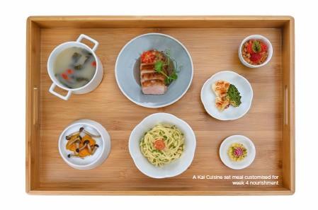 ??  ?? A Kai Cuisine set meal customised for week 4 nourishment