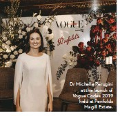 ??  ?? Dr Michelle Perugini at the launch of Vogue Codes 2019 held at Penfolds Magill Estate.