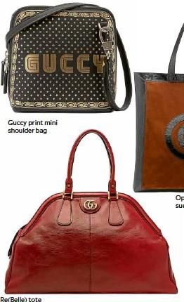 ??  ?? Guccy print mini shoulder bag Re(Belle) tote