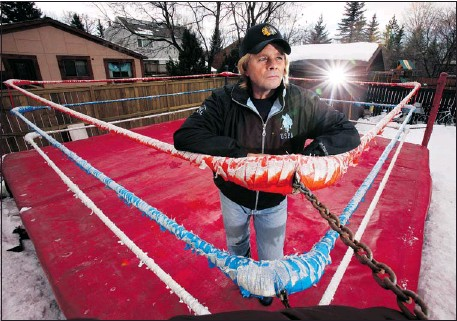 ?? Gavin Young, Calgary Herald ?? The spotlights have long left Stampede Wrestling, but a shrine still exists in Bruce Hart's Calgary backyard. Hart is about to release a tell-all book.