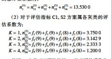 ??  ?? 从而 S2方案对于评估指标C1的总评估系数为: