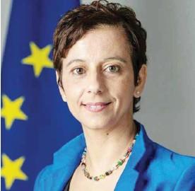 ??  ?? سفيرة الاتحاد الأوروبي في الأردن ماريا هادجيثيودوسيو-)