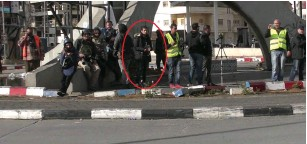 ?? (Israel police) ?? MUHAMMAD AQAL is seen with group of foreign journalists before carrying out stabbing attack that wounded a border police officer.