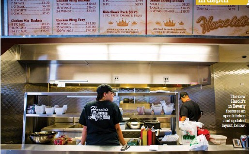 ??  ?? The new Harold's in Beverly features an open kitchen and updated layout, below.