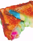 ??  ?? Rainbow grilled cheese