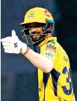 ?? ANI ?? Ruturaj Gaikwad returned to form with a timely half-century against Kolkata Knight Riders in Mumbai yesterday.