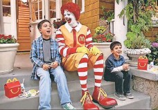 ?? MCDONALD'S ?? A study shows that children get 12% of their calories from fast food, such as a hamburger from a Happy Meal.