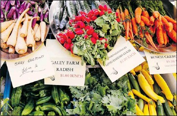 ?? Postmedia News Archive ?? When the growing season hits, check out local farmers' markets for a wide a selection of fresh produce.