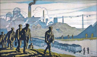 ?? Photo: SSPL/GETTY Images ?? So last century: A British Industries coal poster in 1924, designed by G Clausen.