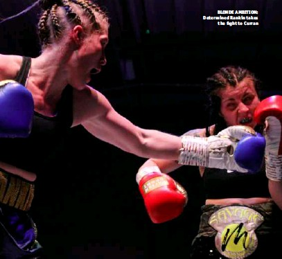 ?? Photo: SHABBA SHAFIQ/SWT SCNC ?? BLONDE AMBITION: Determined Rankin takes the fight to Curran