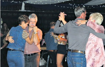 ??  ?? As always, couples made their way onto the dance floor when Daniel Hoffmann performed his new songs Tamlyn Jolly