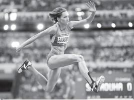 ??  ?? Після бронзового успіху на Олімпіаді-2012 Ольга Саладуха й досі продовжує змагатися на найвищому рівні . Фото з сайта noc-ukr.org.