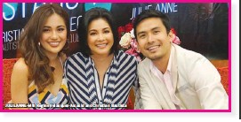 ??  ?? JULIE ANNE with Regine Velasquez-Alcasid and Christian Bautista