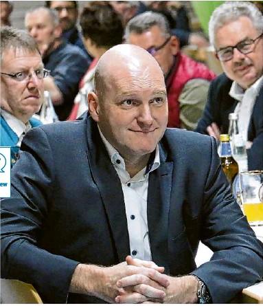 ?? Foto: Ralf Mangold ?? Stephen Brauer beim Sportkreis 2020 in Altenmünster. Seine erste Amtshandlung nach seiner Wahl als Nachfolger von Josef Singer war die Corona-bedingte Absage des Ball des Sports.
