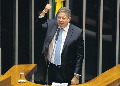 ?? EFE ?? Arthur Lira pertenece al conservador Partido Progresista; su victoria da un respiro a Bolsonaro.