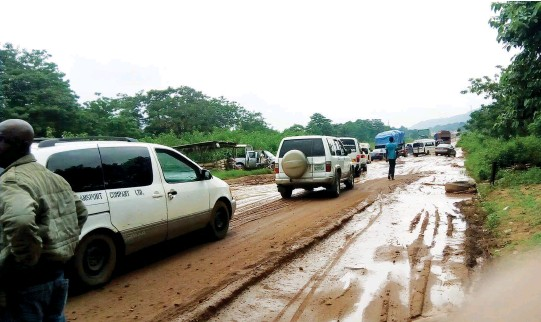 Image result for Lagos-Abeokuta road: Motorists, residents groan as contractor stops work