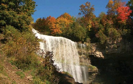 ?? TOURISM AND CULTURE, CITY OF HAMILTON ?? Webster Falls near Hamilton, Ont. The proposed new Bluebelt covers the vast water resources scattered across the Greater Golden Horseshoe.