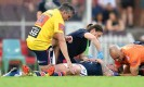?? Photograph: Joel Carrett/AAP ?? Jake Friend was concussed during the Roosters' round-one match against Manly.