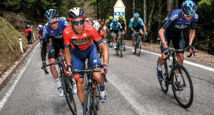 ??  ?? A trio of GT winners - TGH, Nibali and Froome - at the 2019 Tour of the Alps
