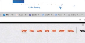 """?? ?? Microsoft first introduced the concept of """"sleeping tabs"""" as part of Edge 88."""