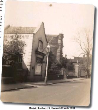 ??  ?? Market Street and St Thomas's Church, 1931