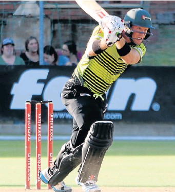 ?? PHOTOGRAPH: BRIAN WITBOOI ?? BRILLIANT PERFORMANCE: Colin Ingram of the Warriors in action during the Momentum One-Day Cup match against the Dolphins at St George's Park