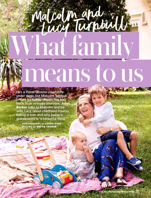 Malcolm And Lucy Turnbull Loss Love And What Family Means To Us Pressreader Read writing from daisy turnbull on medium. malcolm and lucy turnbull loss love