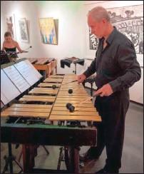??  ?? MALLETS: Legendary vibraphone player Frank Mallows.
