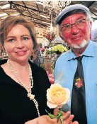 ??  ?? Ludwig Taschner and daughter Anja. Left, Keith Kirsten and the Nelson Mandela rose.