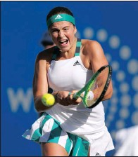 ?? Picture: Reuters/MATTHEW CHILDS ?? JELENA OSTAPENKO: Don't be surprised.