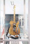 ??  ?? Domenic Troiano's Fender Telecaster is on display at Friar's.