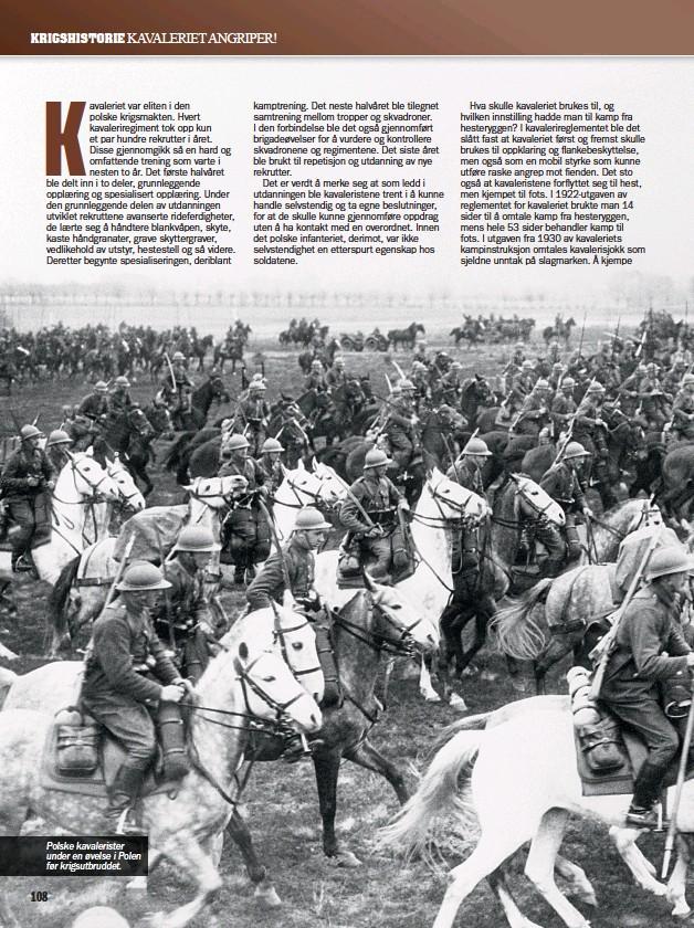 ??  ?? Polske kavalerister under en øvelse i Polen før krigsutbruddet.