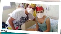 ??  ?? LEFT: Arne's N95 respirator is fitted. It's important for health workers to make sure their masks fit properly and protect them against airborne TB transmission at work. ABOVE: A friend visits Dalene in hospital. TB PROOF