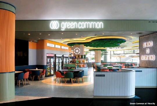 ??  ?? Green Common at Vivocity