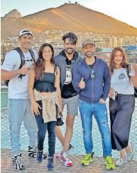 ??  ?? INDIAN celebrities landed in Cape Town on Friday for their shoot of Khatron Ke Khiladi (Fear Factor India). Pictured are: 1. Anushka Sen; 2. Varun Sood; and 3. Divyanka Tripathi. LEFT: Varun Sood, from left, Shweta Tiwari, Vishal Singh, Rahul Vaidya and Divyanka Tripathi.   Instagram