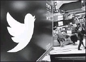 ?? Richard Drew Associated Press ?? TWITTER has increased efforts to rid its site of toxic content. Its shares had their best day since October.