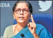 ?? SONU MEHTA/HT PHOTO ?? Union finance minister Nirmala Sitharaman.