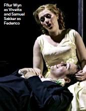 ??  ?? Fflur Wyn as Vivetta and Samuel Sakker as Federico