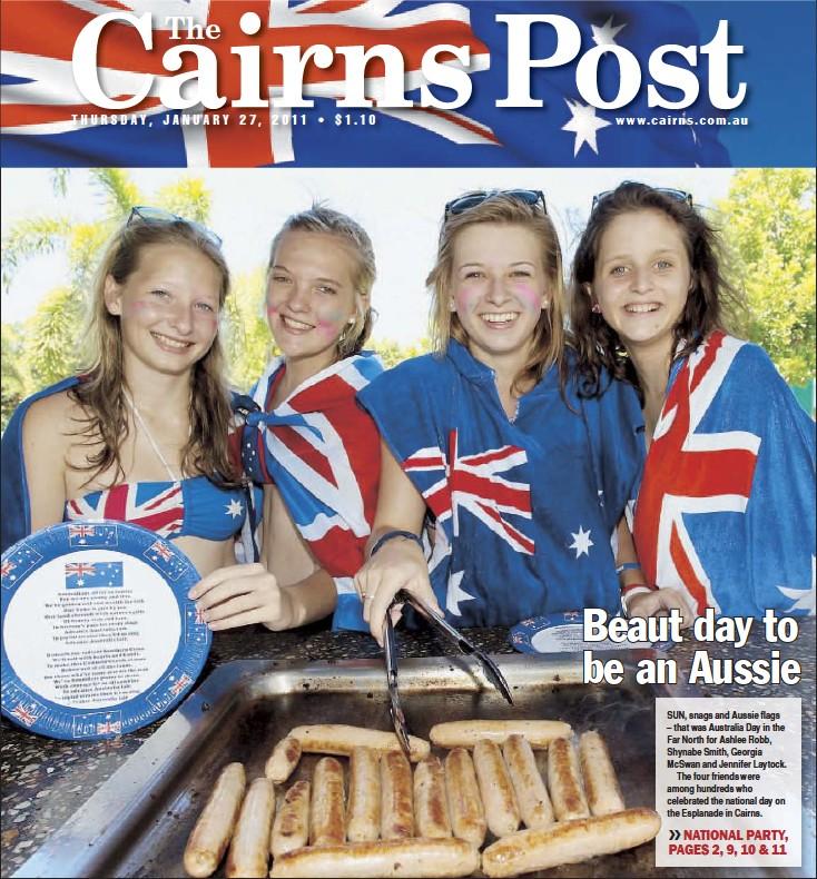 7b7a2baf8f PressReader - The Cairns Post  2011-01-27 - Beaut day to be an Aussie