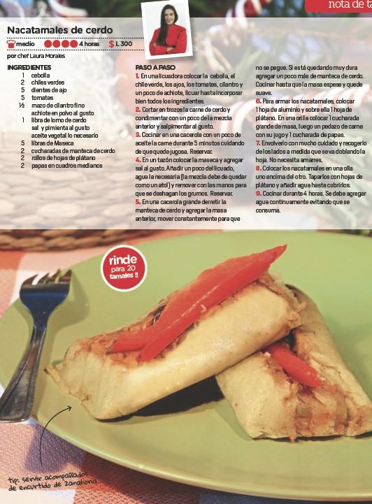 ??  ?? os acompañad tip: servir zanahoria. de de encurtido rinde para 20 tamales!!