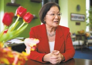 """?? Bill Clark / CQ Roll Call via Getty Images ?? Sen. Mazie Hirono, DHawaii, says she battled """"stereotypical notions of me as a demure and nonconfrontational Asian woman."""""""